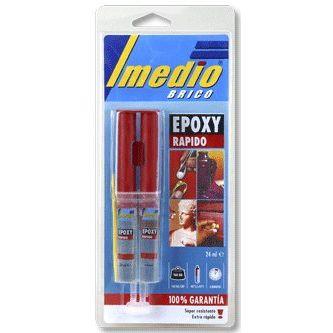 PEGAMENTO 2 COMPONENTES INYECTOR EPOXI RAPIDO 24 ML (6305008